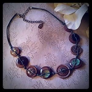 Vintage Button Choker Necklace